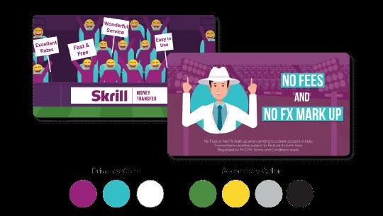 Skrill color scheme